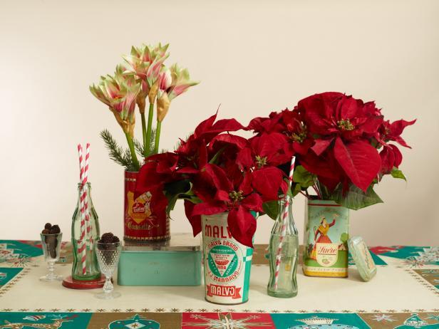 christmas-holiday-centerpiece-ideas-vintage-unique-poinsettia