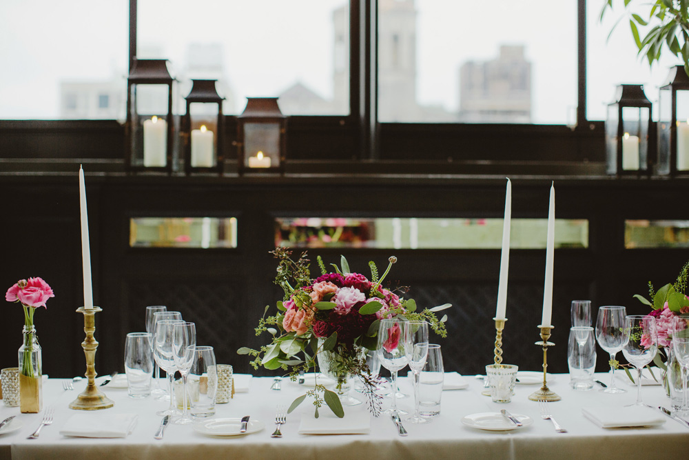gramercy-park-hotel-wedding-magenta-flowers-sophisticated-taper-candles