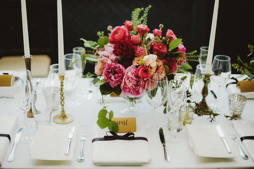 gramercy-park-hotel-wedding-magenta-flowers-sophisticated-taper-candles-glamour