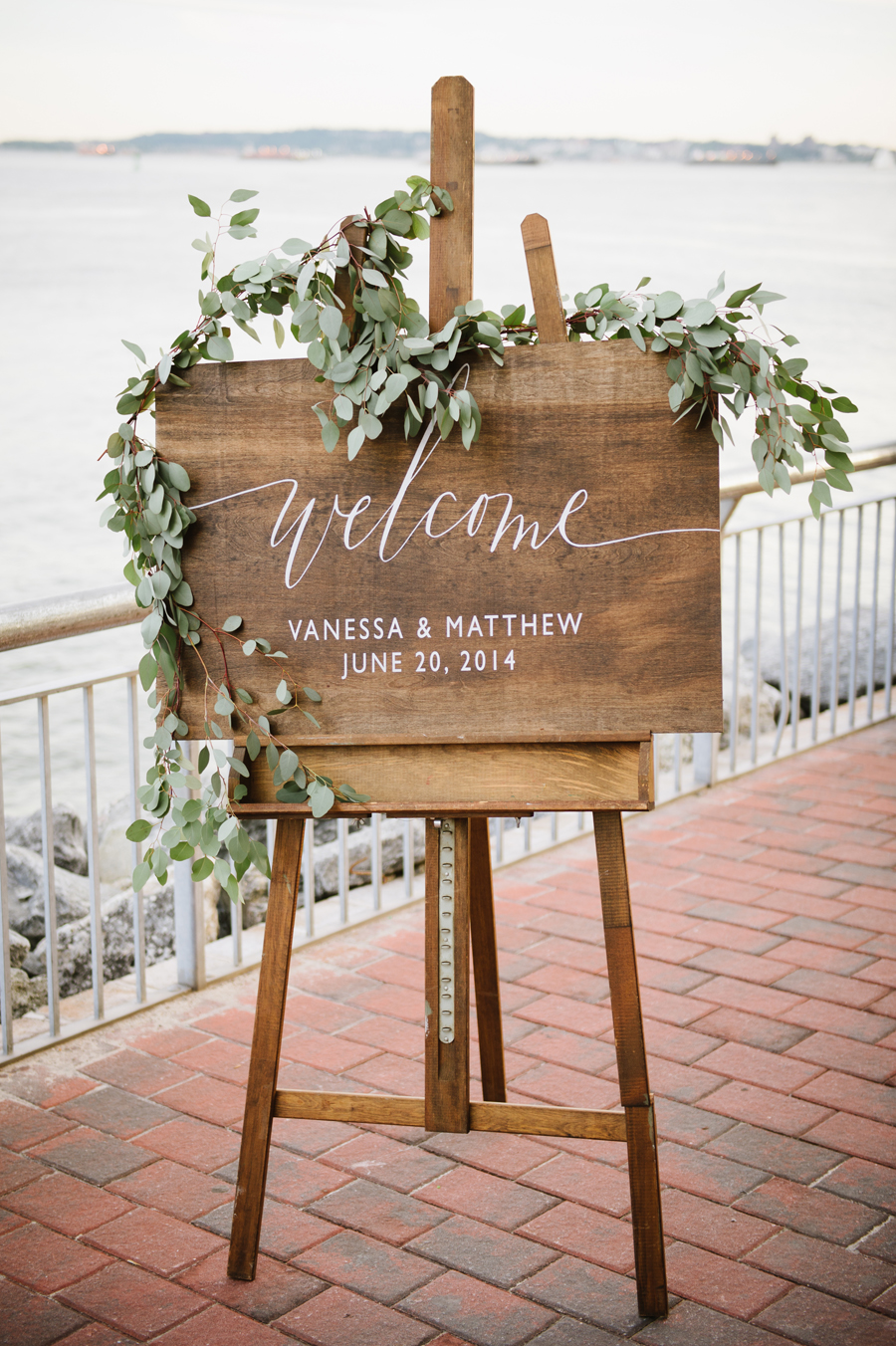 liberty-warehouse-wedding-calligraphy-wood-sign-eucalyptus