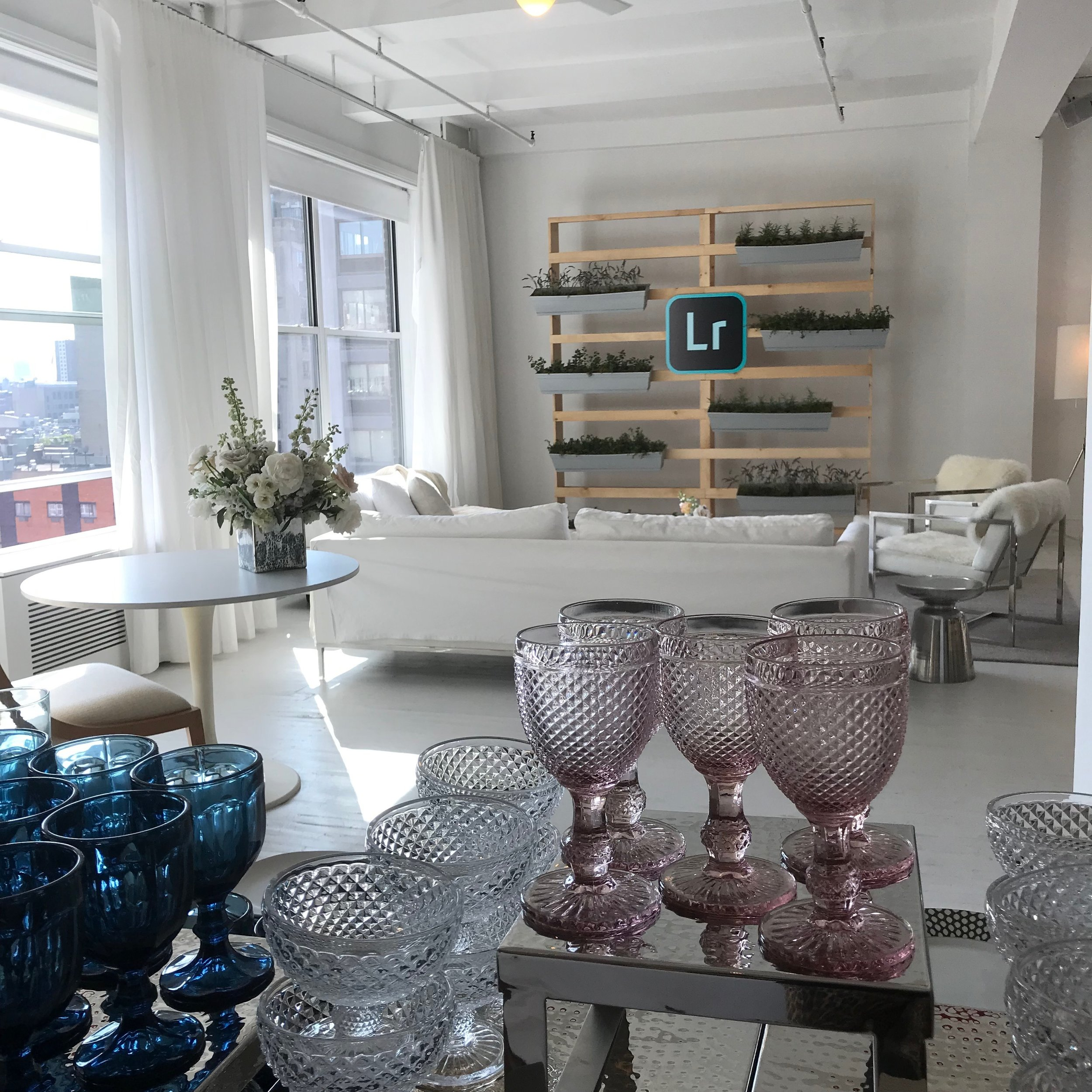 glassware-tinted-white-herb-wall-windows-event
