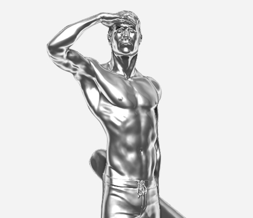Rendering by artist Jake Janz of statue to be unveiled.