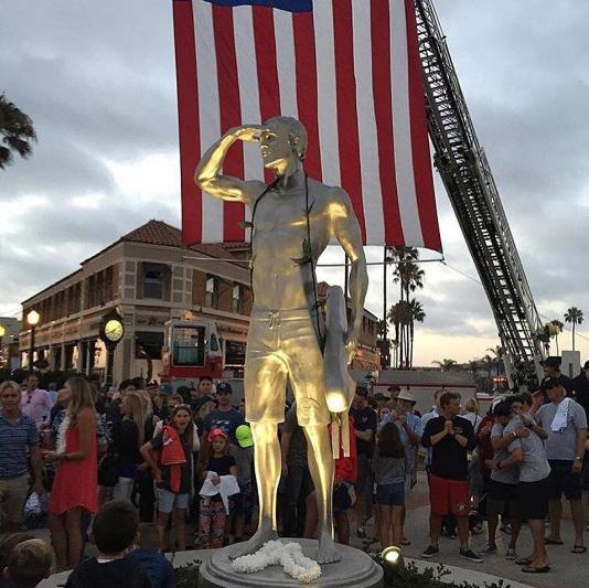 Ben Carlson Statue Unveiling in Newport Beach, July 6