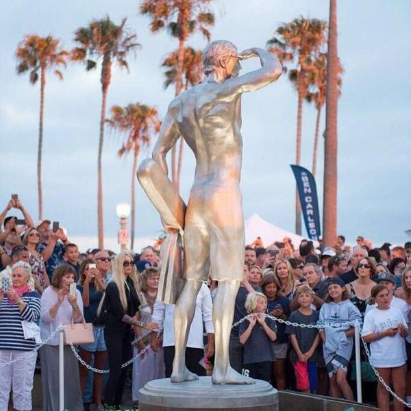 Jake Janz Statue design unveiled in Newport Beach  PHOTO: MURPHY KARGES, KARGES MEDIA