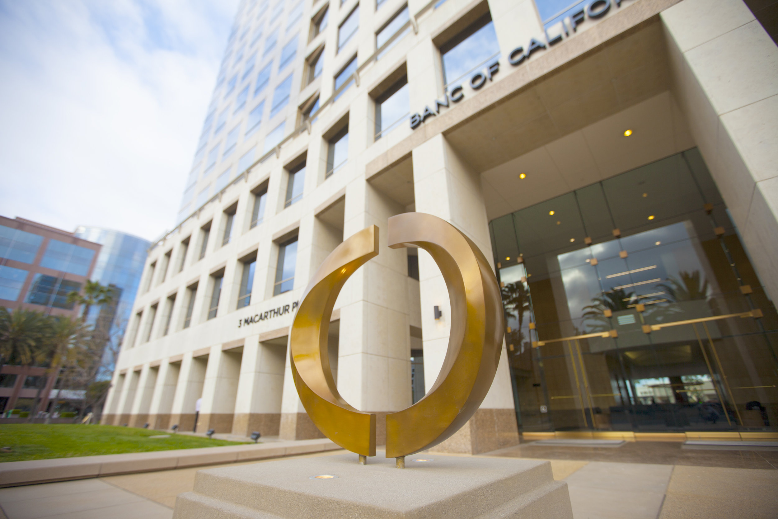 Bronze Sculpture for Banc of California Headquarters, Santa Ana, Ca. 2017. // Sculptor: Jake Janz Fine Art // Architect:  Gensler  // Contractor:  Howard Building Co.