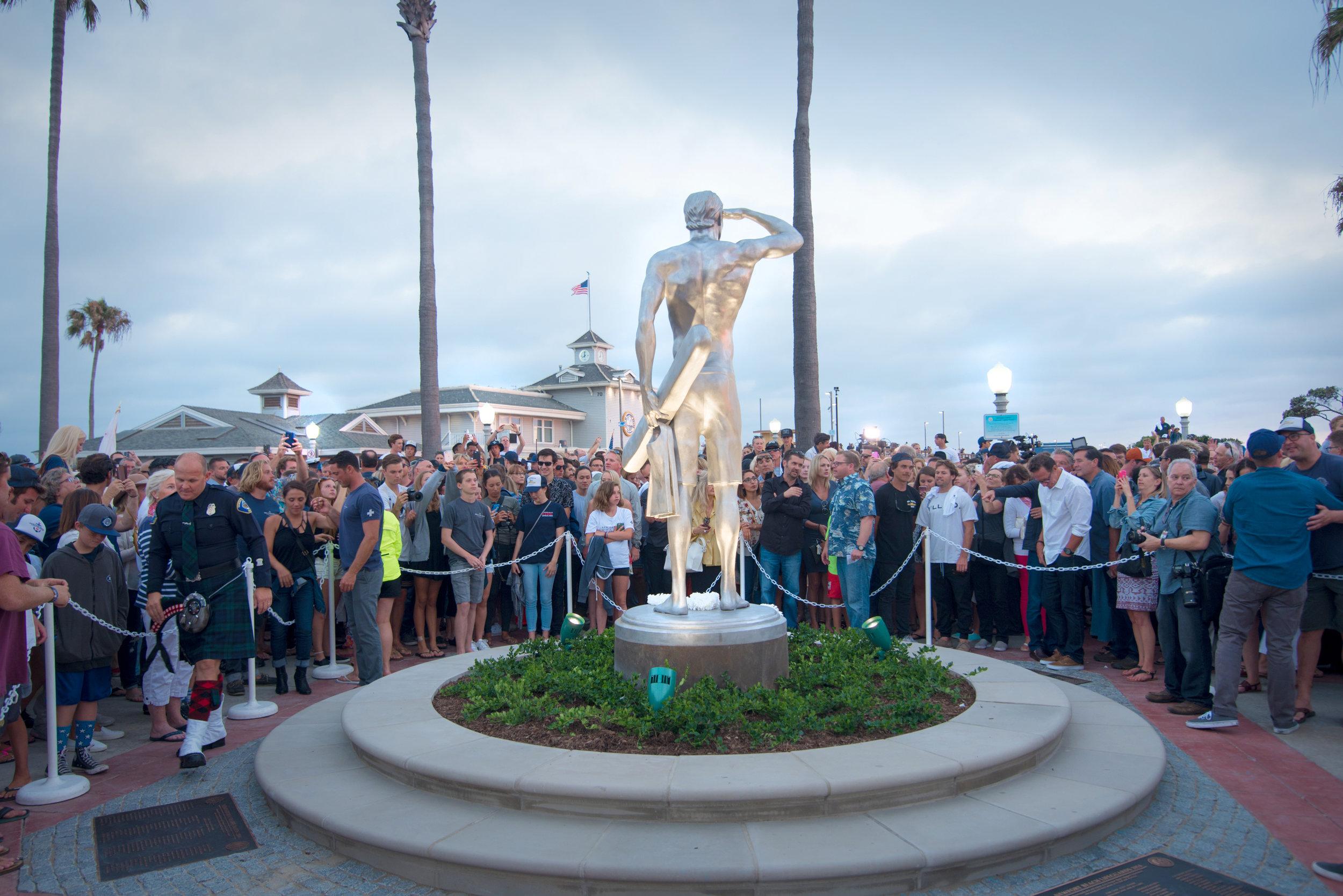 Steel Sculpture for Ben Carlson Memorial, Newport Beach, Ca. 2016. // Sculptor: Jake Janz Fine Art // Landscape Architect:  Lifescapes International // Contractor:  BrightView
