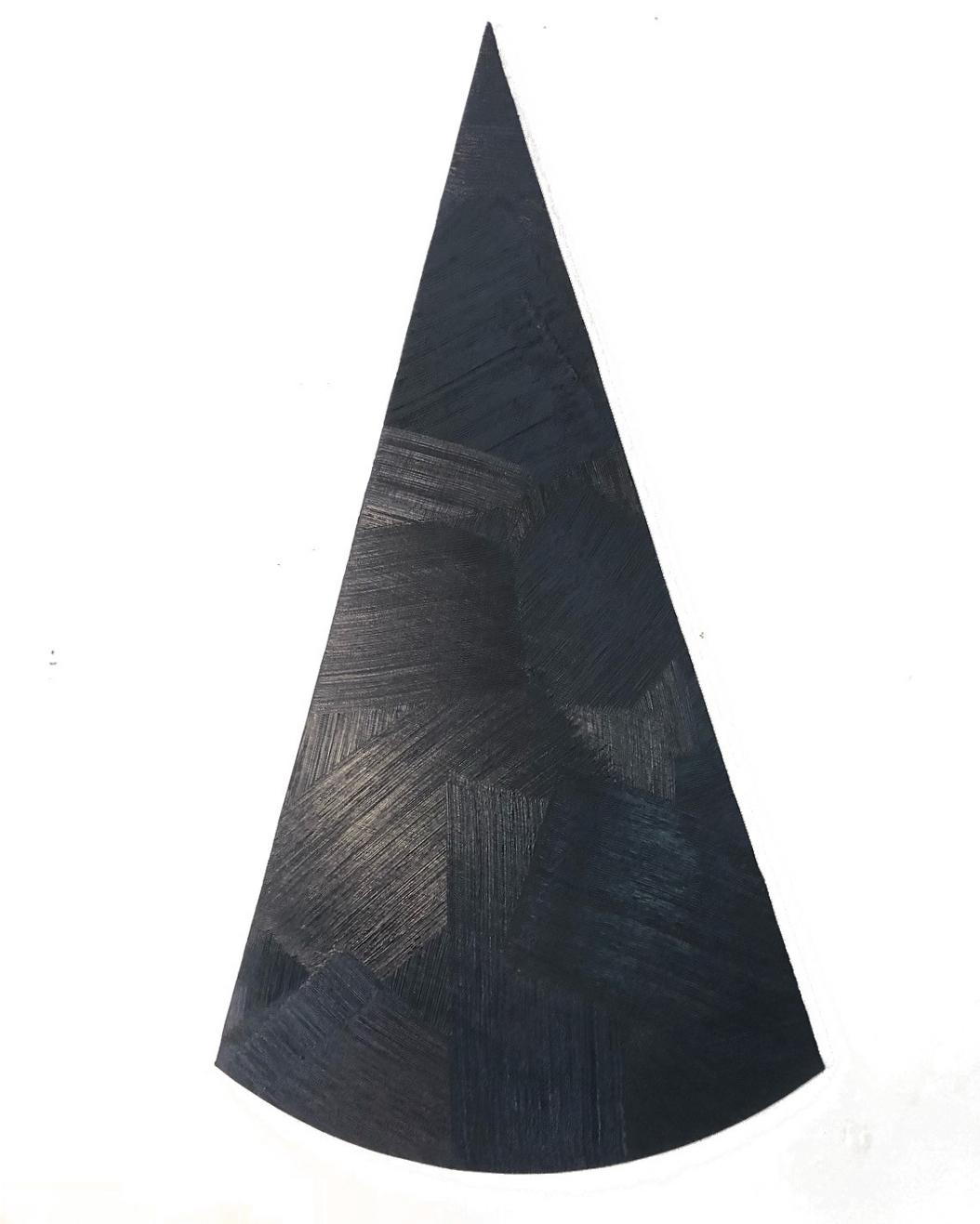"18-04 acrylic on muslin over mdf 47"" x 25"" 2018"