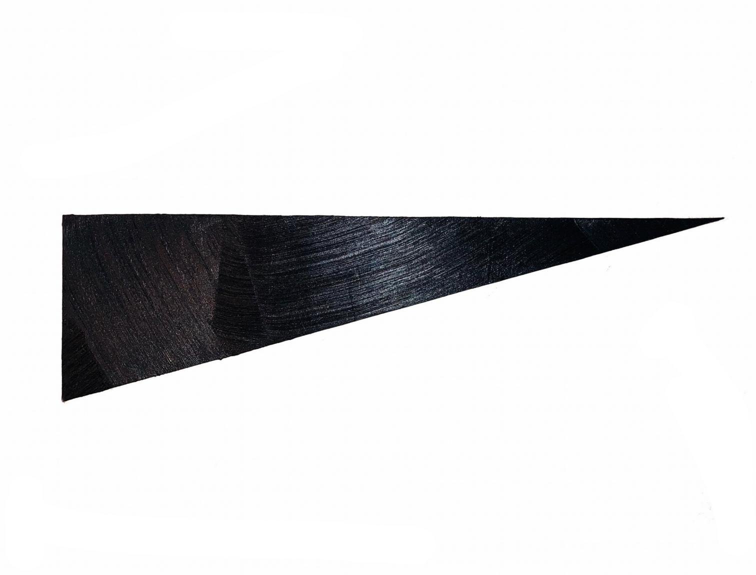 "18-02 acrylic on muslin over mdf 9.5"" x 33"" 2018"