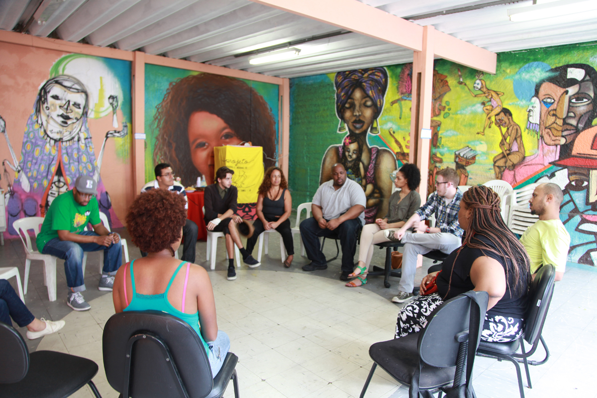Fearless Dialogues created by Dr. Gregory Ellison and Beautiful In Every Shade Meets with group of artists and leaders of Street Kids Project in  Sao Bernardo do Campo Brazil.