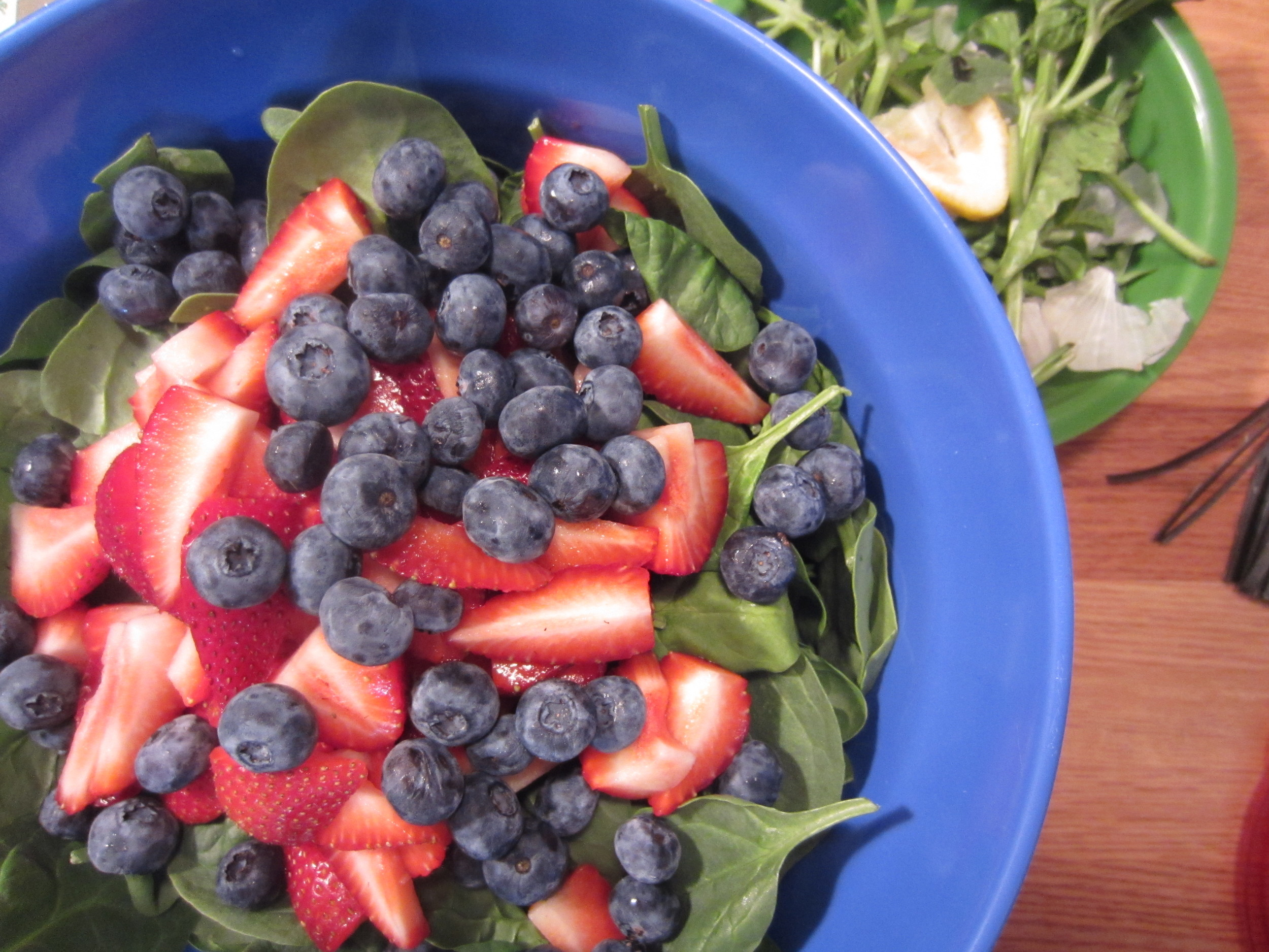Strawberry, Blueberry, Spinach with Balsamic