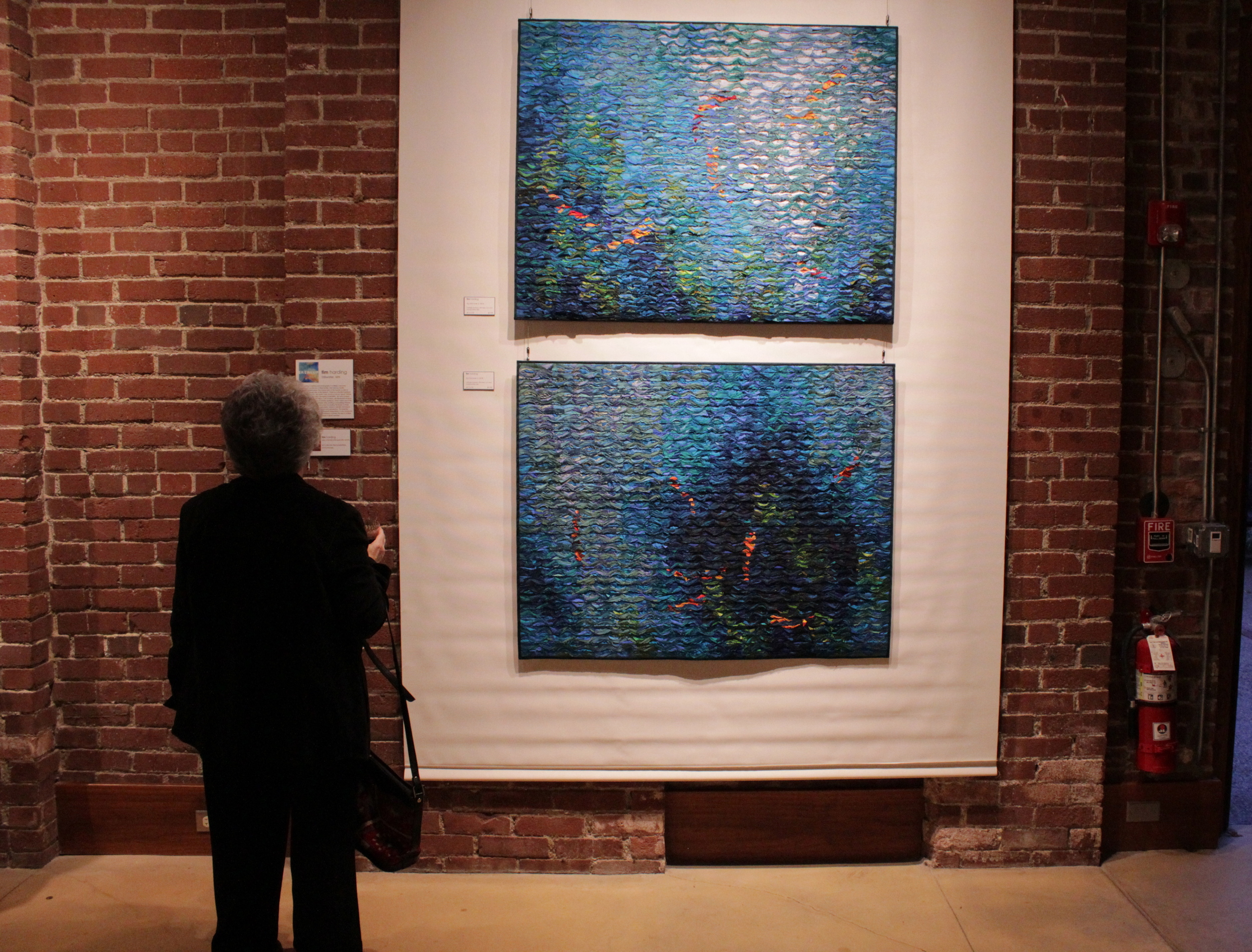 Image from an opening at  James Gallery in Pittsburgh's West End.