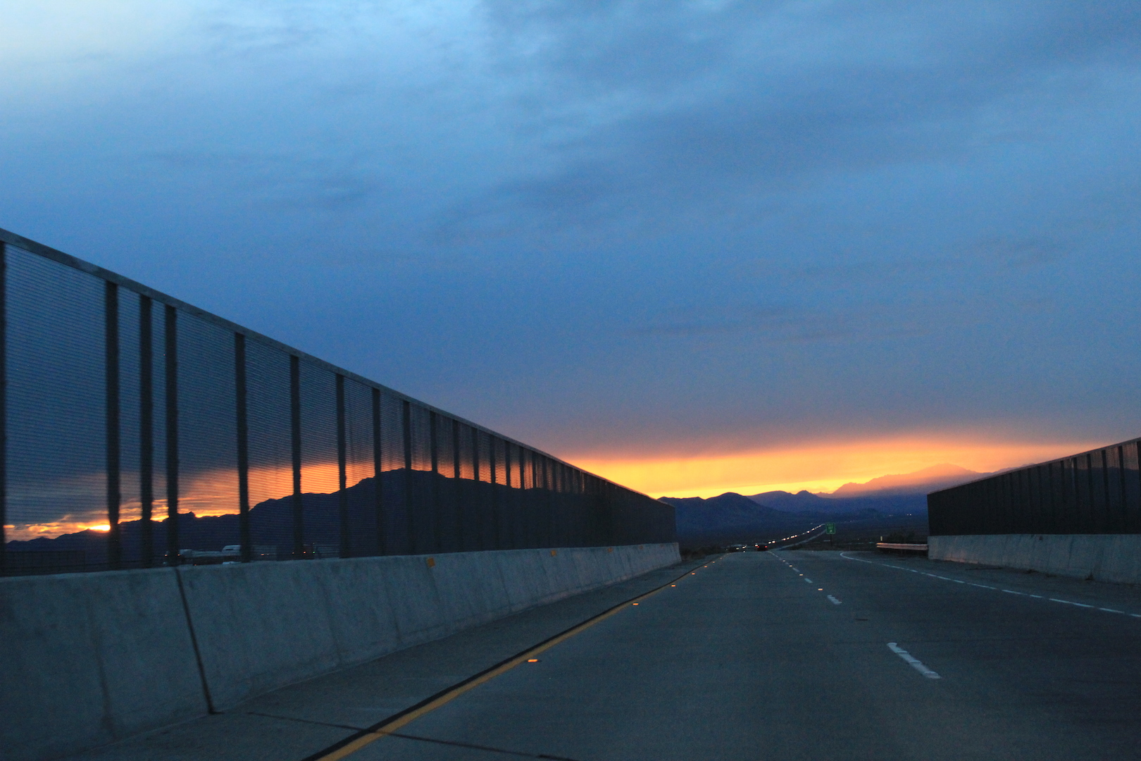 driving into california