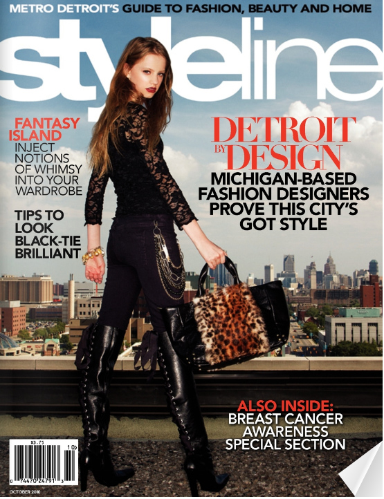 Cover of Styleline shot on the rooftop of College for Creative Studies, 2010