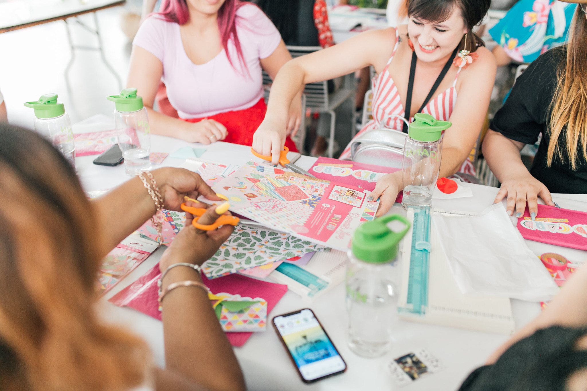 Me getting ready to get creative with  Damask Love  in the makers space,  Photo by Christina Best