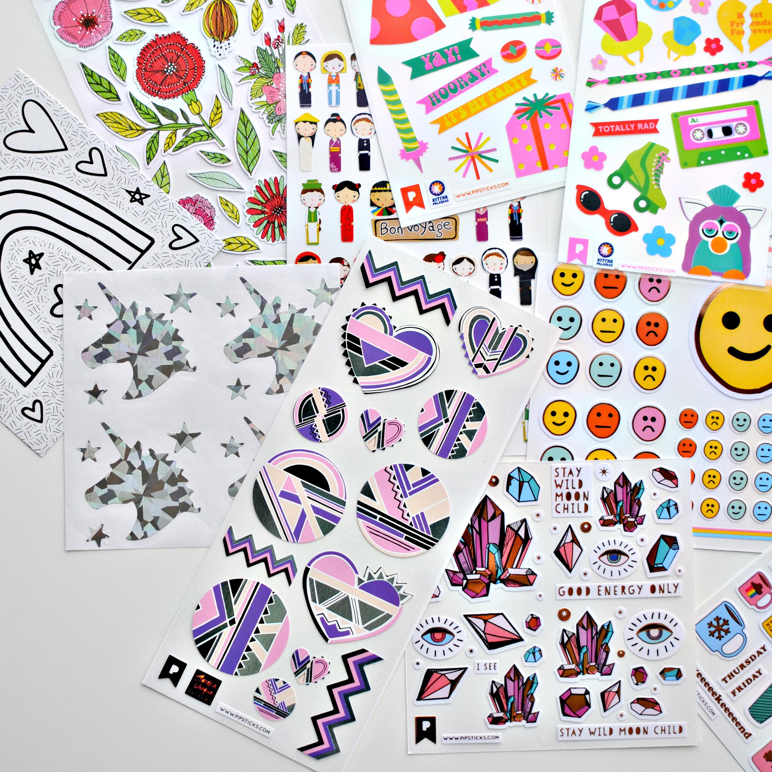 Sareka Unique Pipstick Sticker Collaboration