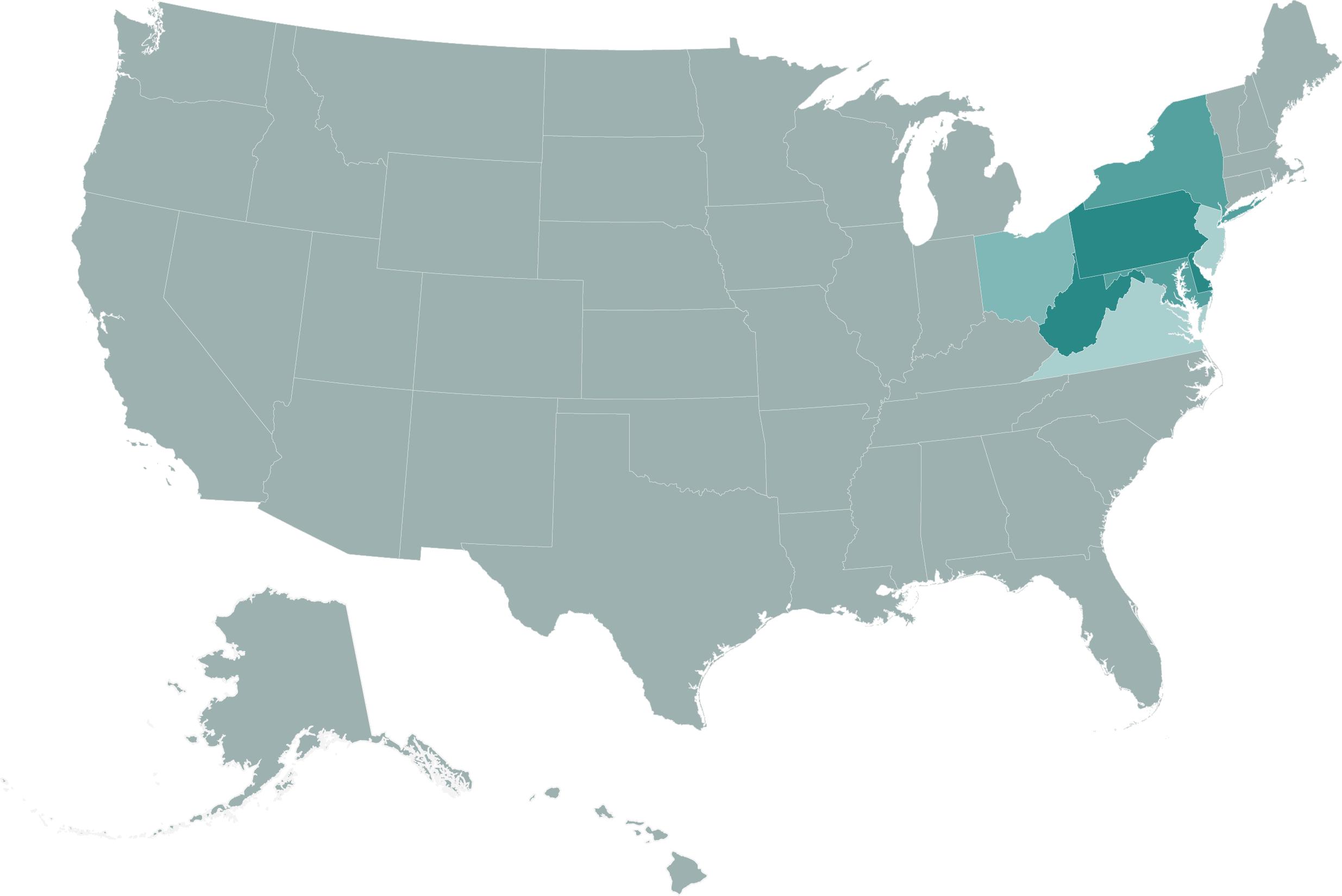 Areas of service:    PA, NJ, DE, MD, VA, WV, OH, Ny