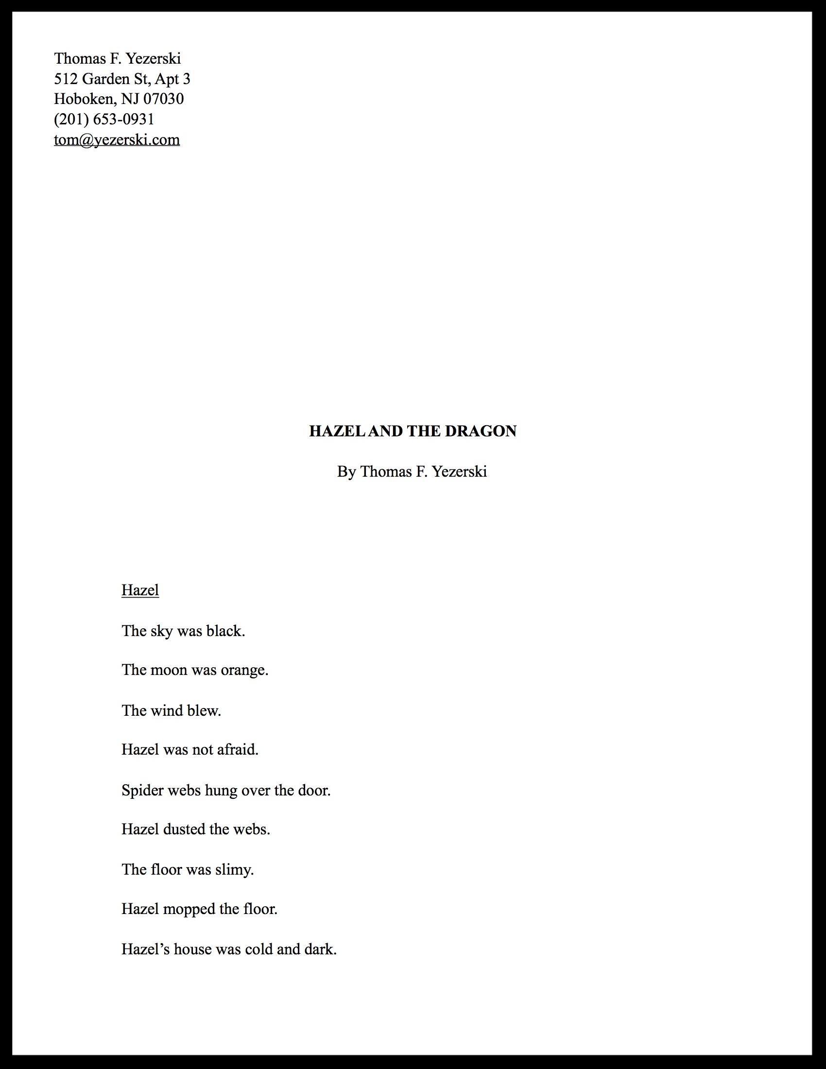 Hazel and the Dragon (Manuscript)