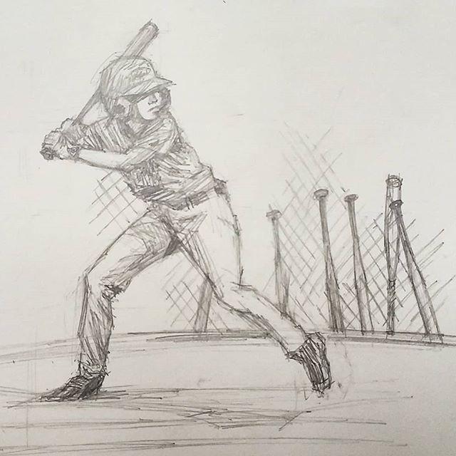 Stretch and Fire @hoboken_little_league @hoboken.nj #hobokenlittleleague #littleleague #hoboken #baseball #kidsofsummer #pitcher #windup #pencildrawing #drawing
