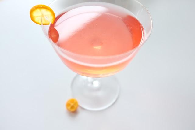 kumquat campari martini
