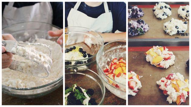 Make: summer berry scones