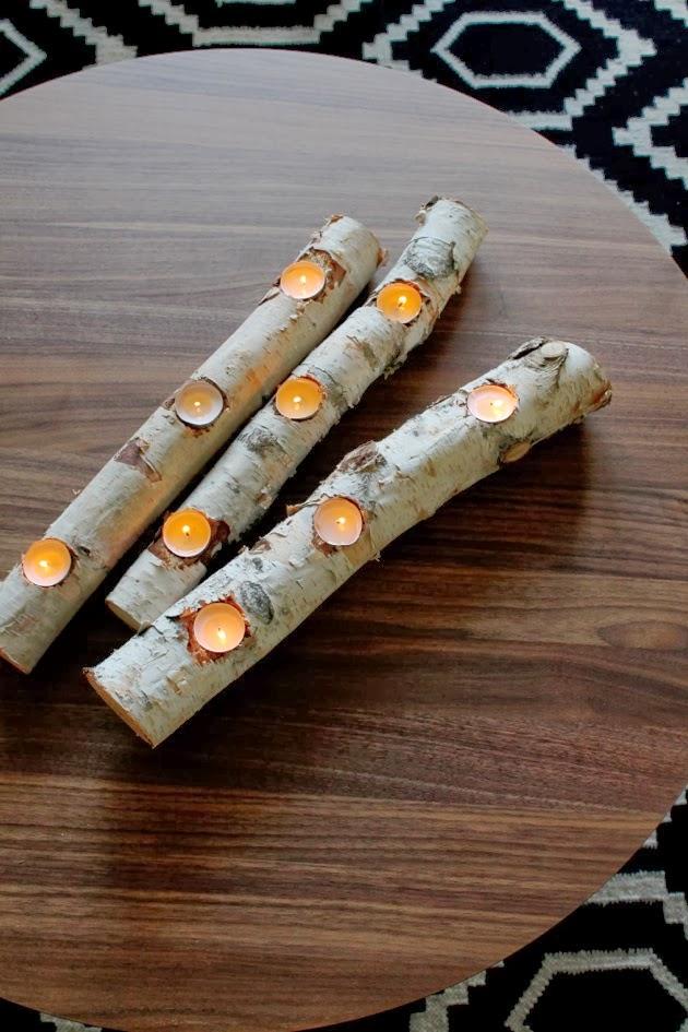 Birch Log Candle DIY // Poppy Haus