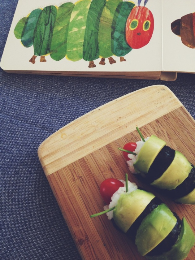 Make your own Very Hungry Caterpillar Roll