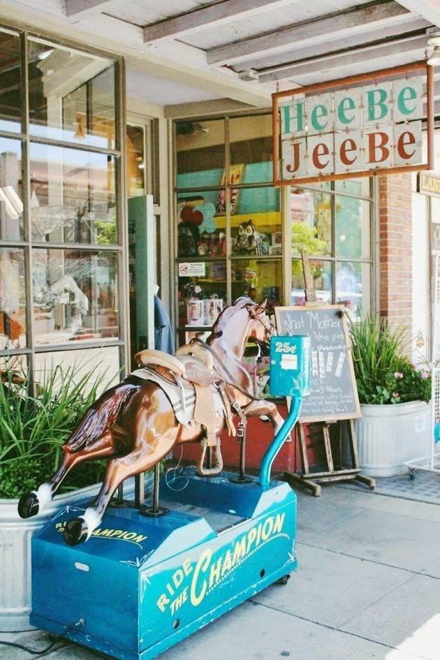 Champion the mechanical horse-  Heebe Jeebe    on Kentucky Street, downtown Petaluma