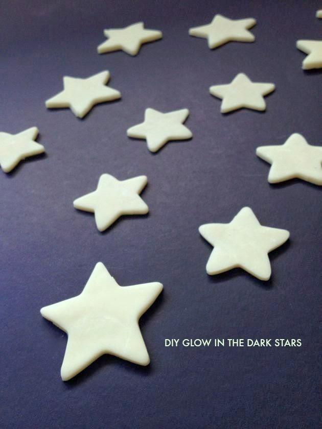 DIY glow in the dark stars