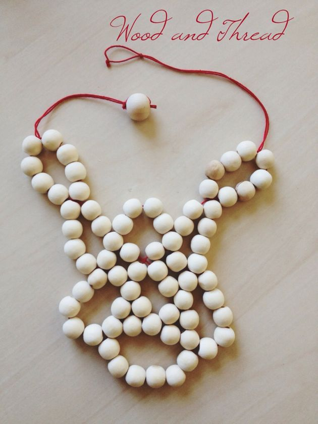 wood and thread necklace // poppy haus