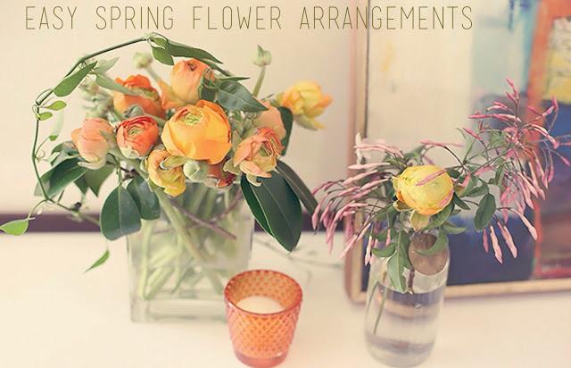 Make beautiful flower arrangements using grocery store flowers