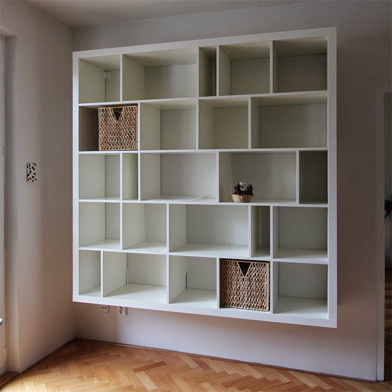 Reshuffled shelves and wall mounted EXPEDIT hack (this I might have to do)