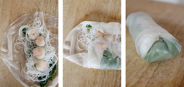 How to roll Vietnamese fresh spring rolls