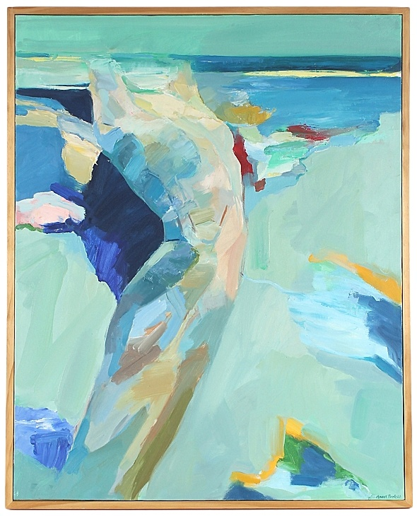 Abstracted Figure, oil on canvas, by Anna Pool 25x31 $1295