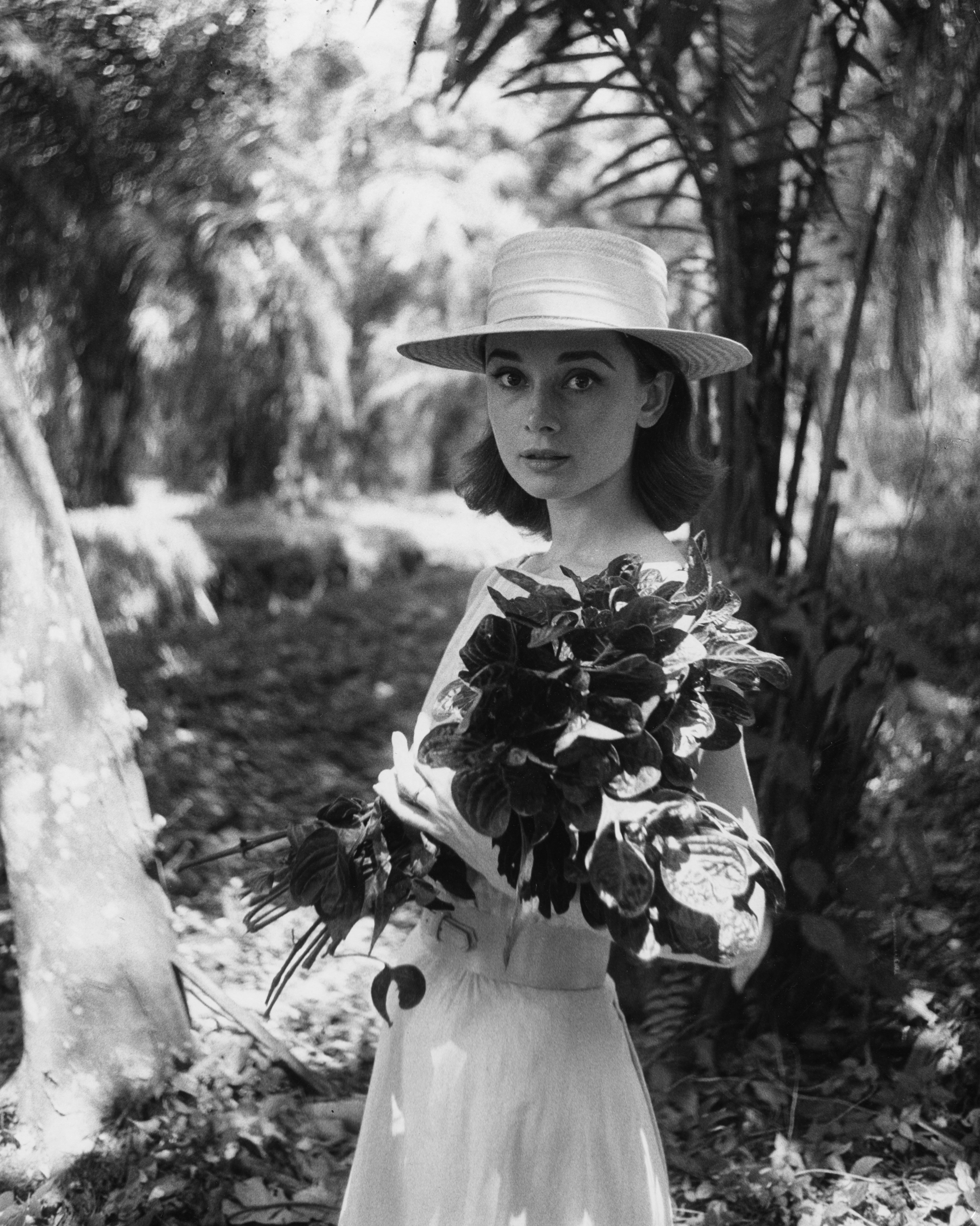 Audrey Hepburn on location in Africa for The Nun's Story by Leo Fuchs, 1958 ©Leo Fuchs. Used with permission from The National Portrait Gallery.