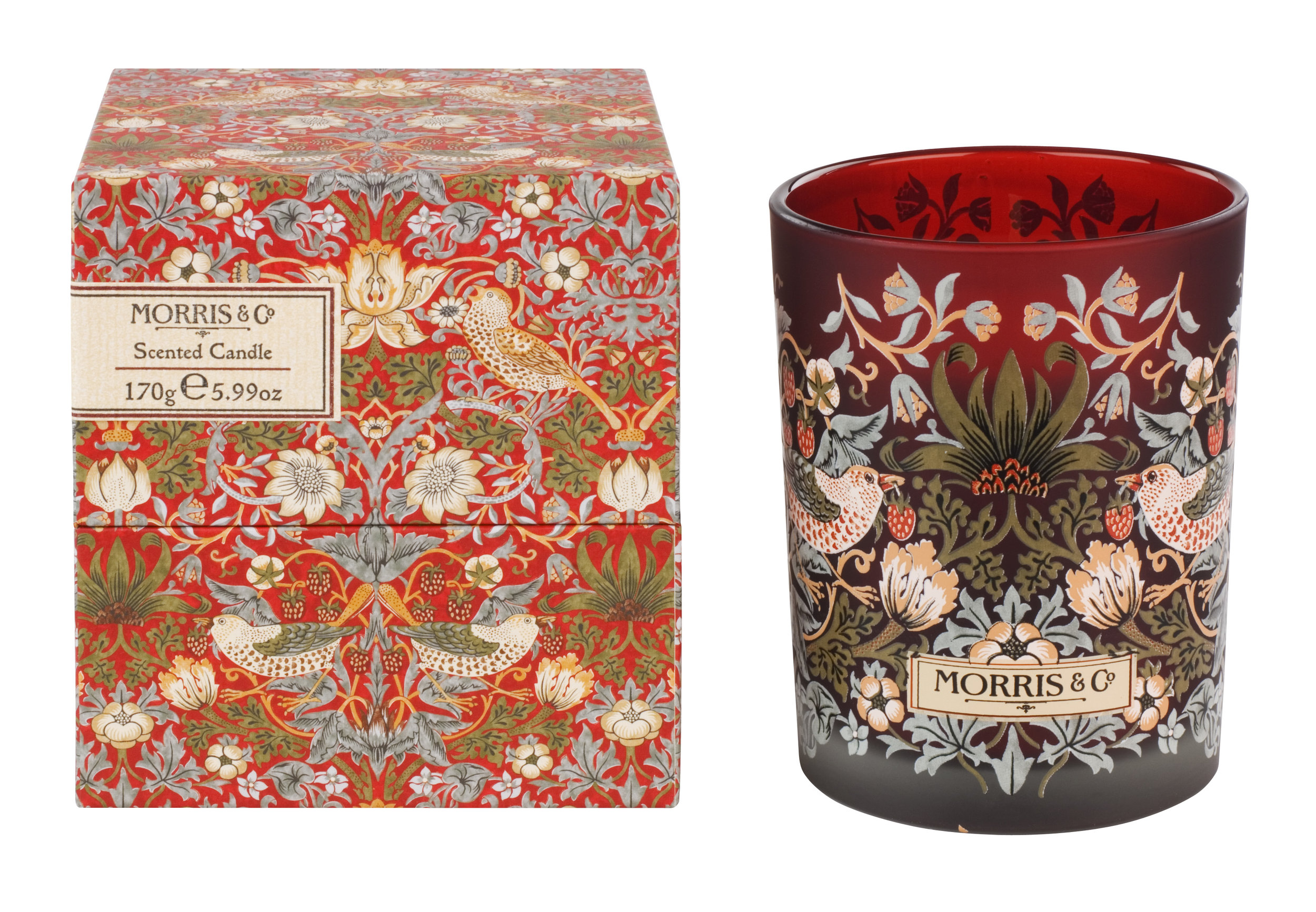 FG2159  MORRIS & CO- STRAWBERRY THIEF - CANDLE.jpg