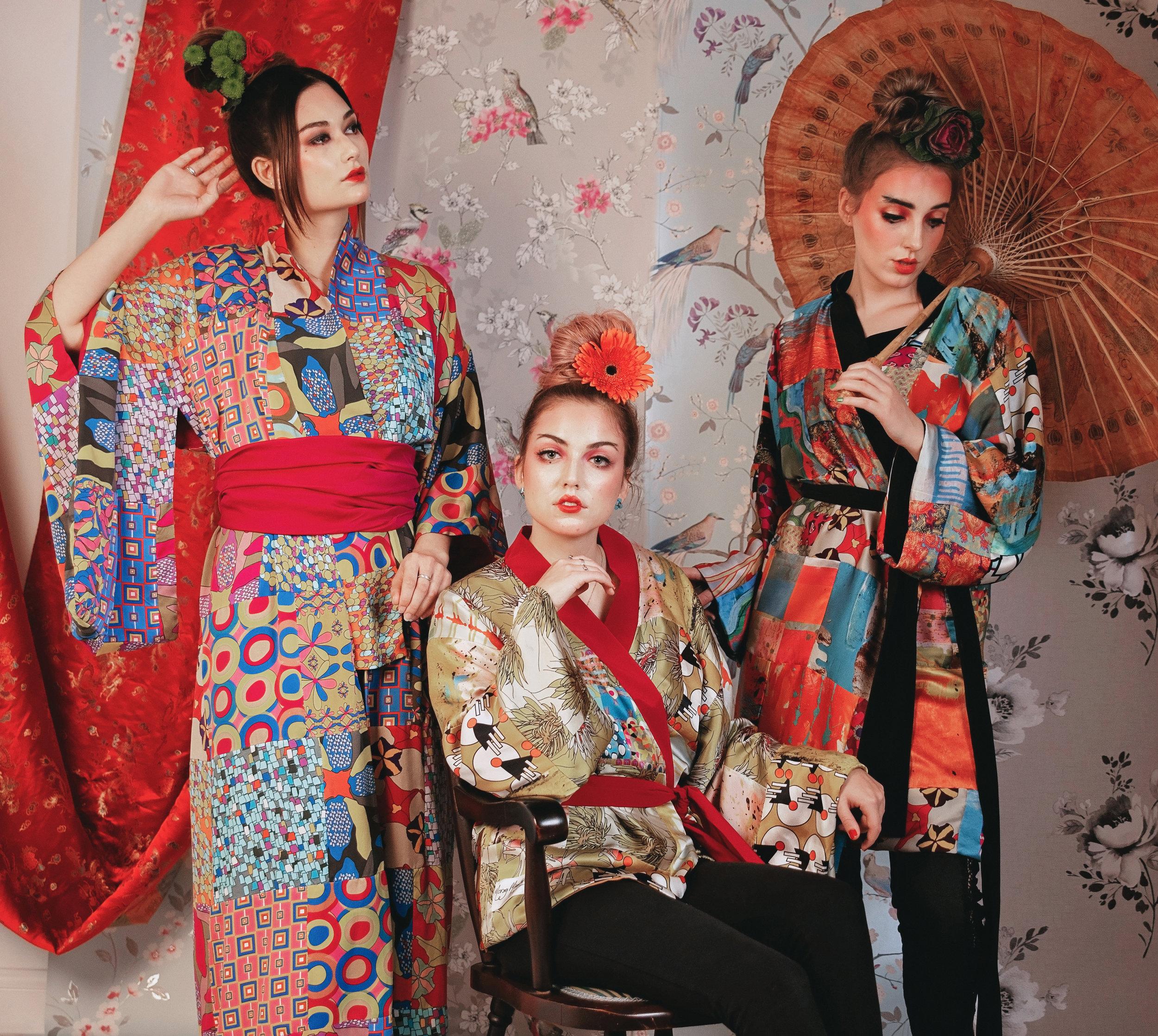Morag Macpherson Silk Kimono Trio