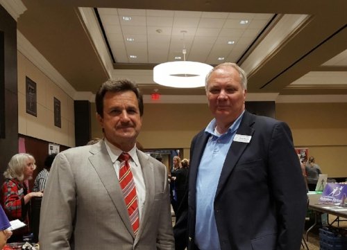 Pictured from left to right -                                       Dr. Lawrence Schovanec, TTU President               Doug Morris, FPL Executive Director