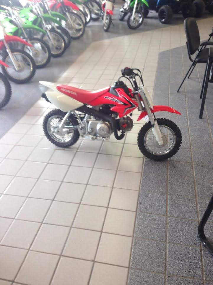 2016 New Honda CRF 50F Kids Dirt Bike donated by Family Power Sports. Retail Value $1800 + Tax!