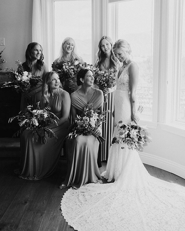 She looked stunning on her wedding day! I love this friend of mine so much and looks like all her girls do too. 🖤
