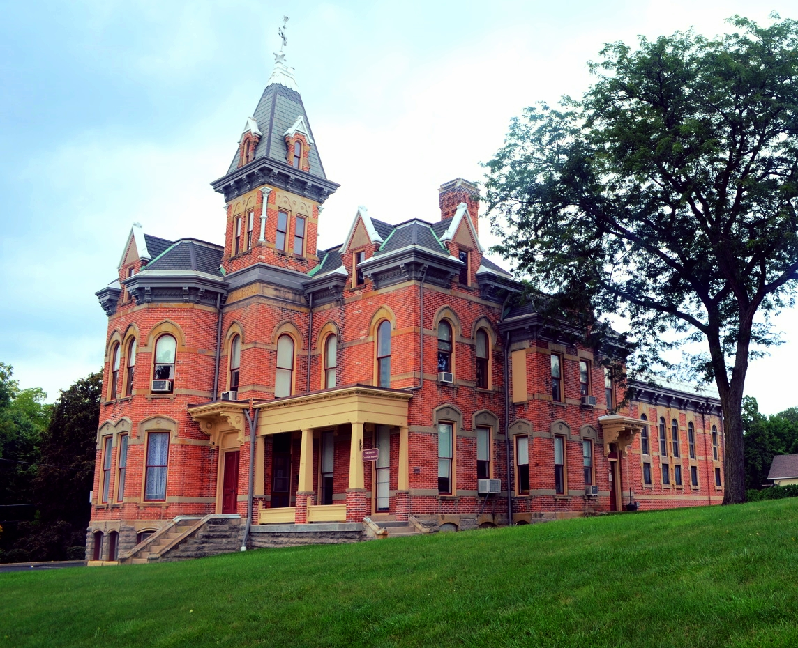Located directly across the street from Gordon Law Office, construction began on the former Delaware County Jail and Sheriff's residence in 1878. This building served as the county's jail until the current Delaware County Jail was finished in 1987,