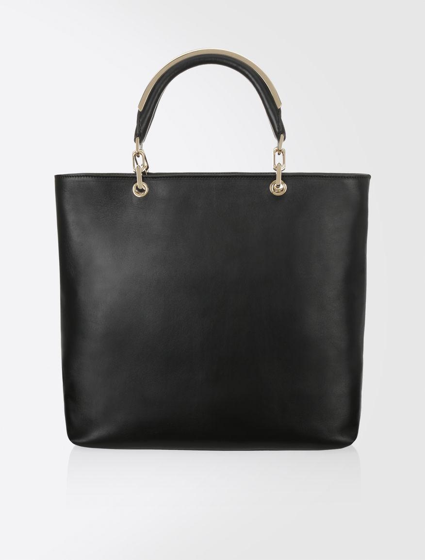 Max Mara Napa Leather Shopping Bag Black