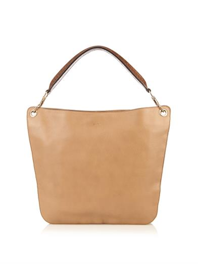 Max Mara Leather Hobo Bag in Beige