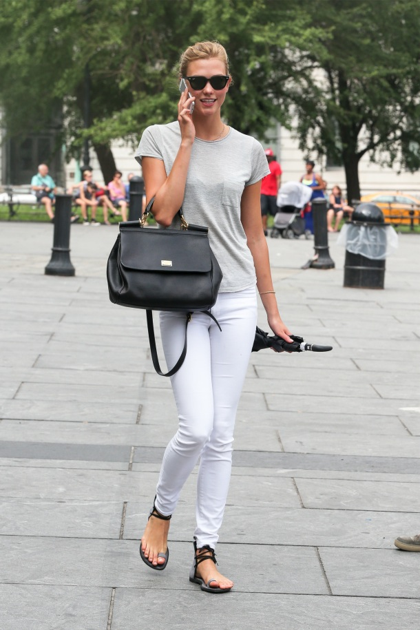 Karlie Kloss in Frame Denim