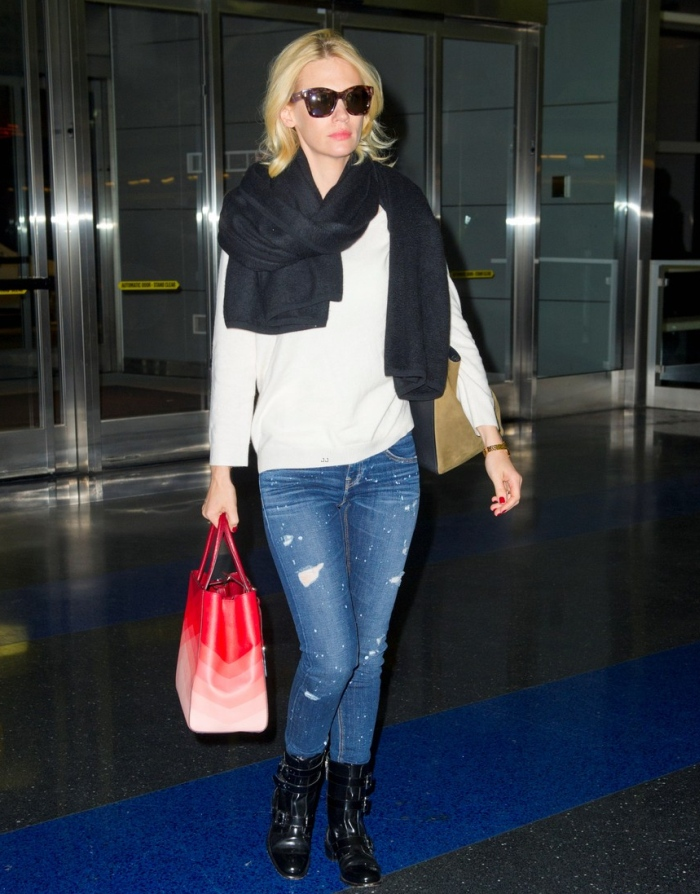 January Jones in Strom Jeans
