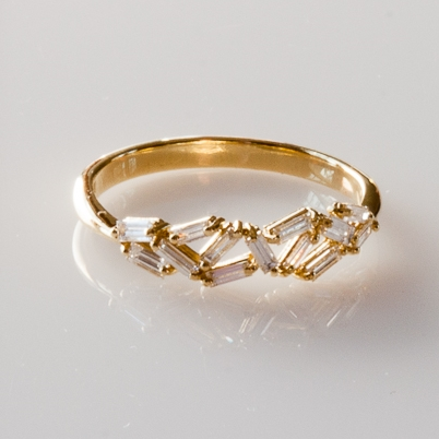 Suzanne Kalan Fireworks Yellow Gold and Diamond Ring