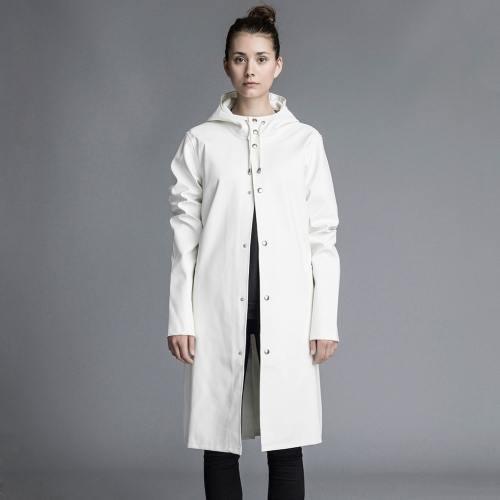 Stutterheim Stockholm Long Jacket White