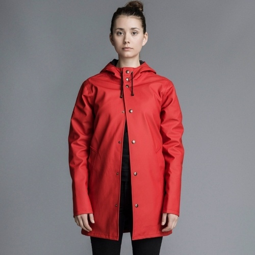 Stutterheim Arholma Lined Jacket Red
