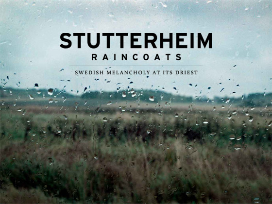 Stutterheim Logo with Rain