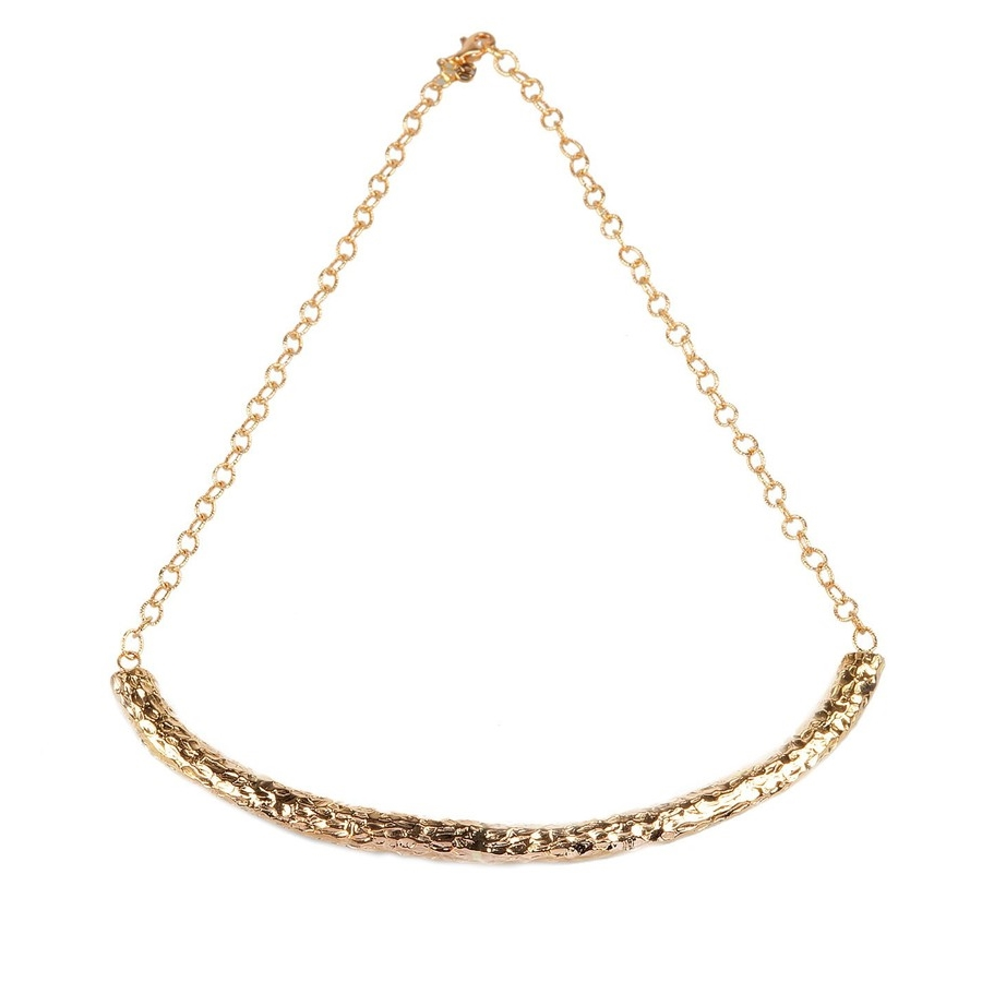 Kismet by Milka  14K Rose Gold Medallion Bar Necklace