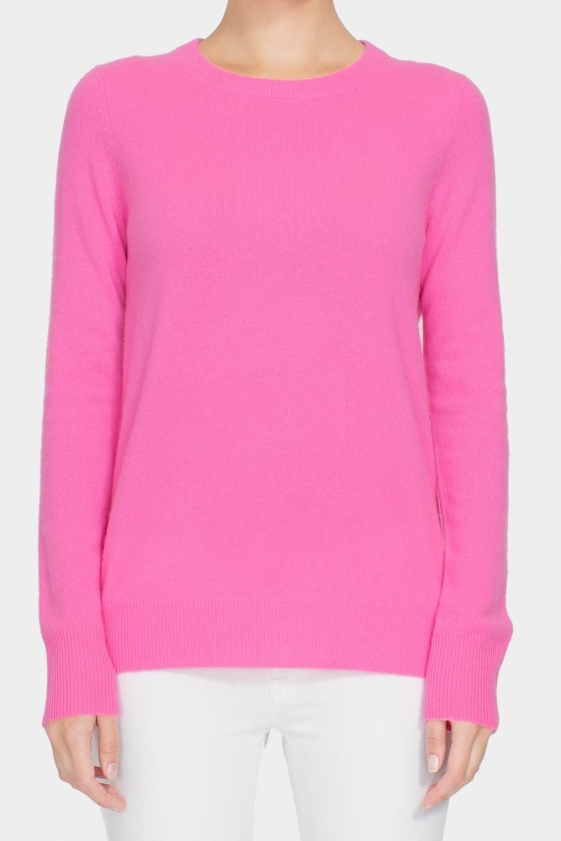 White & Warren Classic Crew Neck Cashmere Sweater Front